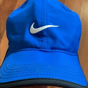 Blue Nike dri-fit baseball cap